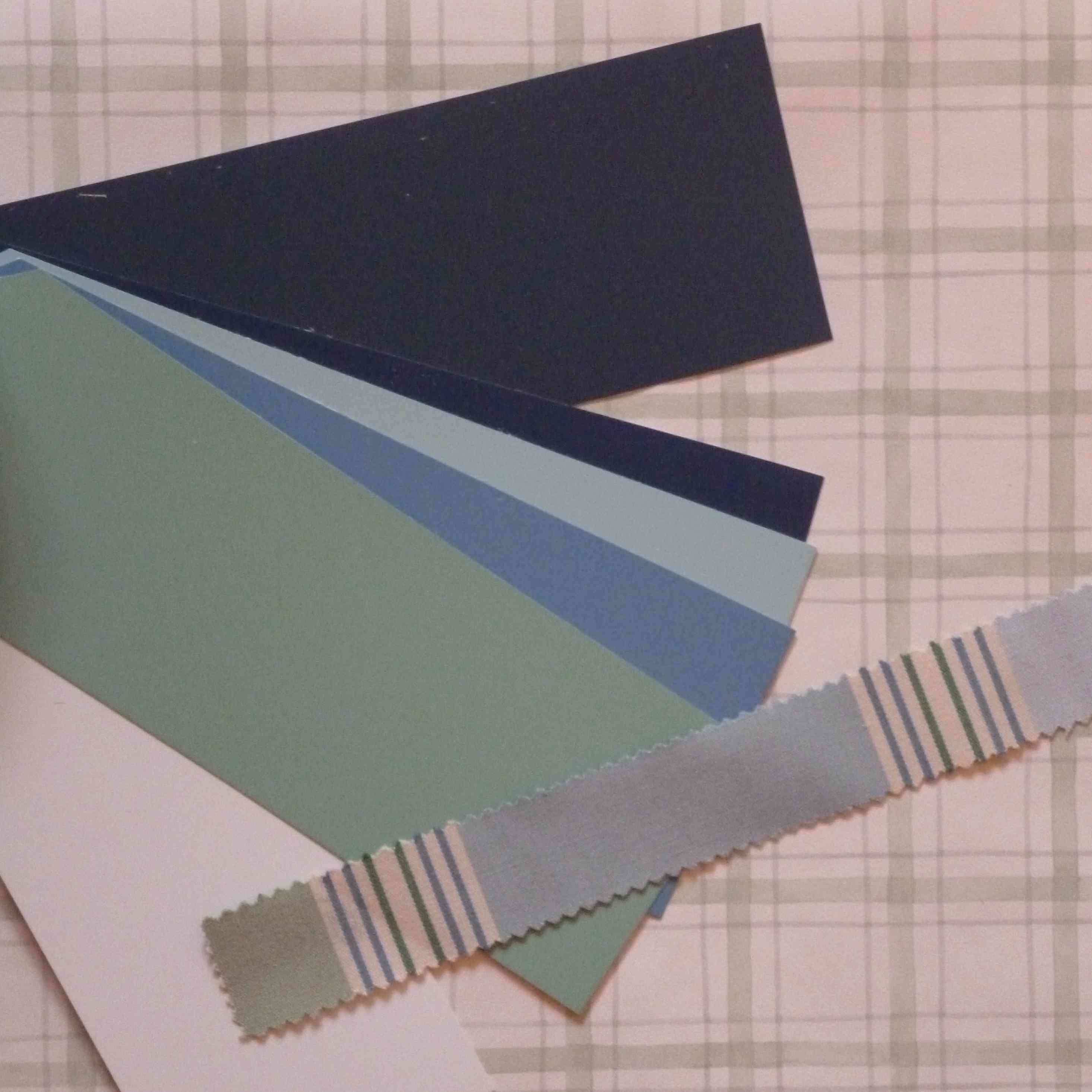 nuancier bleu-vert papier-peint-carreaux-Toiles-de-Mayenne