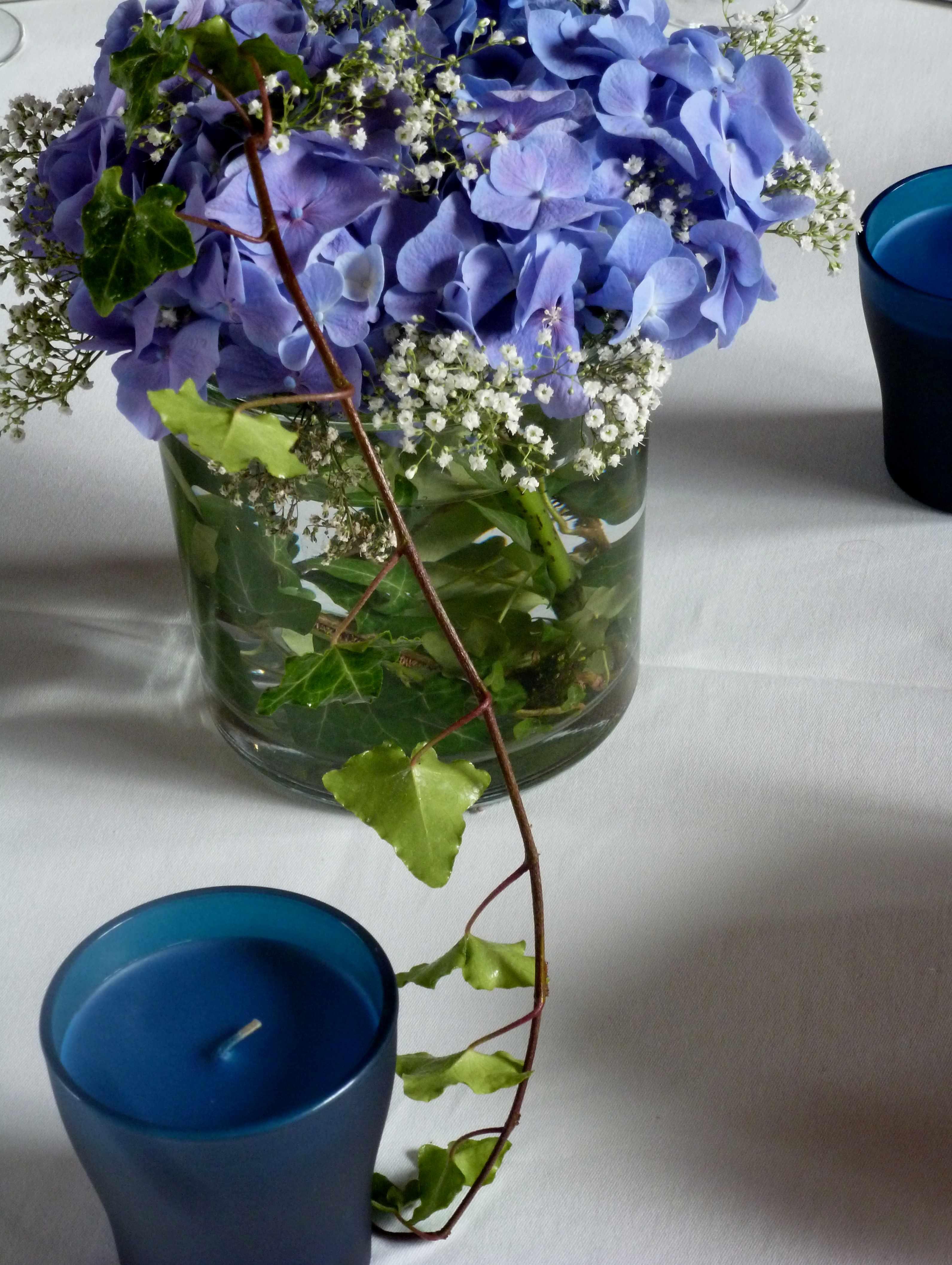 Bouquet bleu pour les derniers jours de novembre - Terre pour hortensia bleu ...