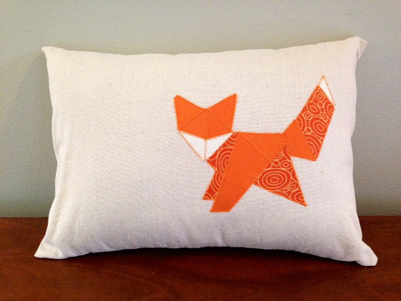 coussin-Origami-fox-GoodGreyhoundDesigns
