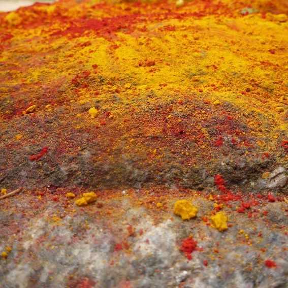 India couleurs chaudes