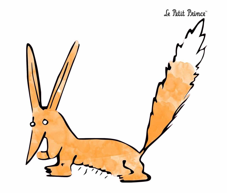 le-renard-aquarelle-stickers-le-petit-prince-chambre-enfant-Decominus