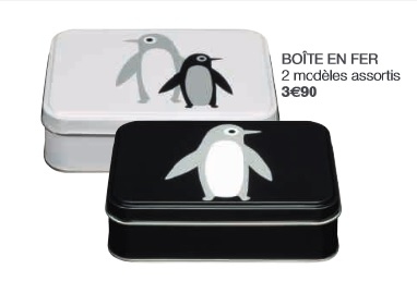 boites-fer collection Pingouin Monoprix decembre 2014