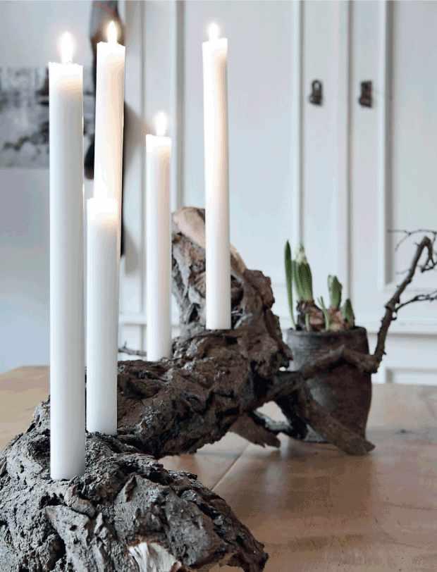 bougies sur cep de vigne Planete-deco 8-12-14