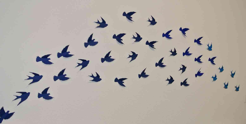 bird-wall-DIY-mur-oiseaux-papier