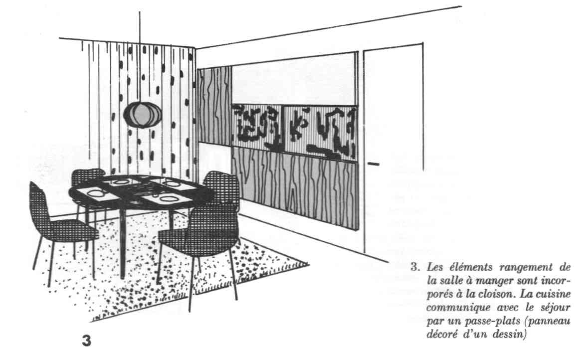 il y a 50 ans le coin repas anc tre de la cuisine ouverte. Black Bedroom Furniture Sets. Home Design Ideas