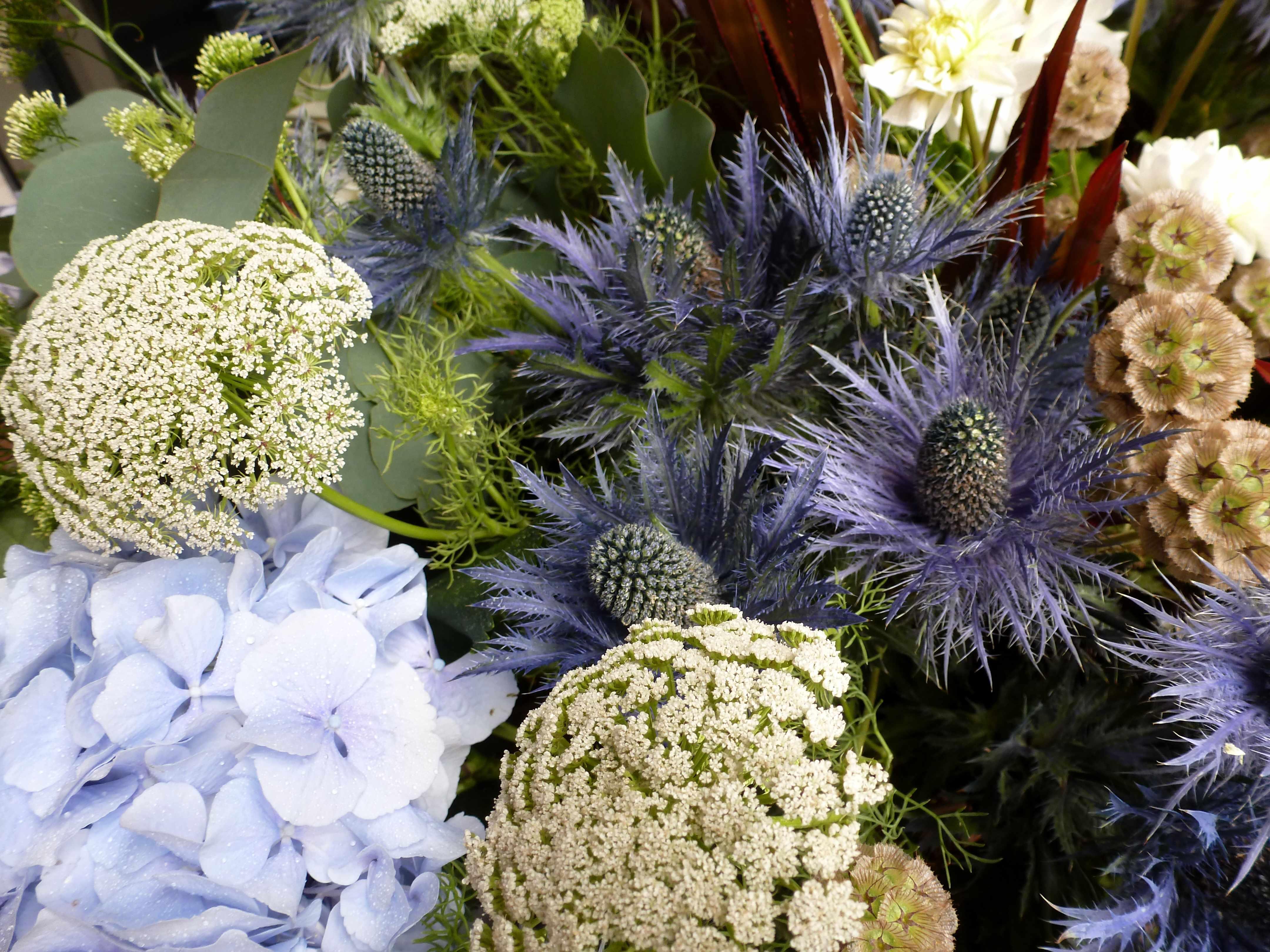 DECO mariage Marie bouquet bleu