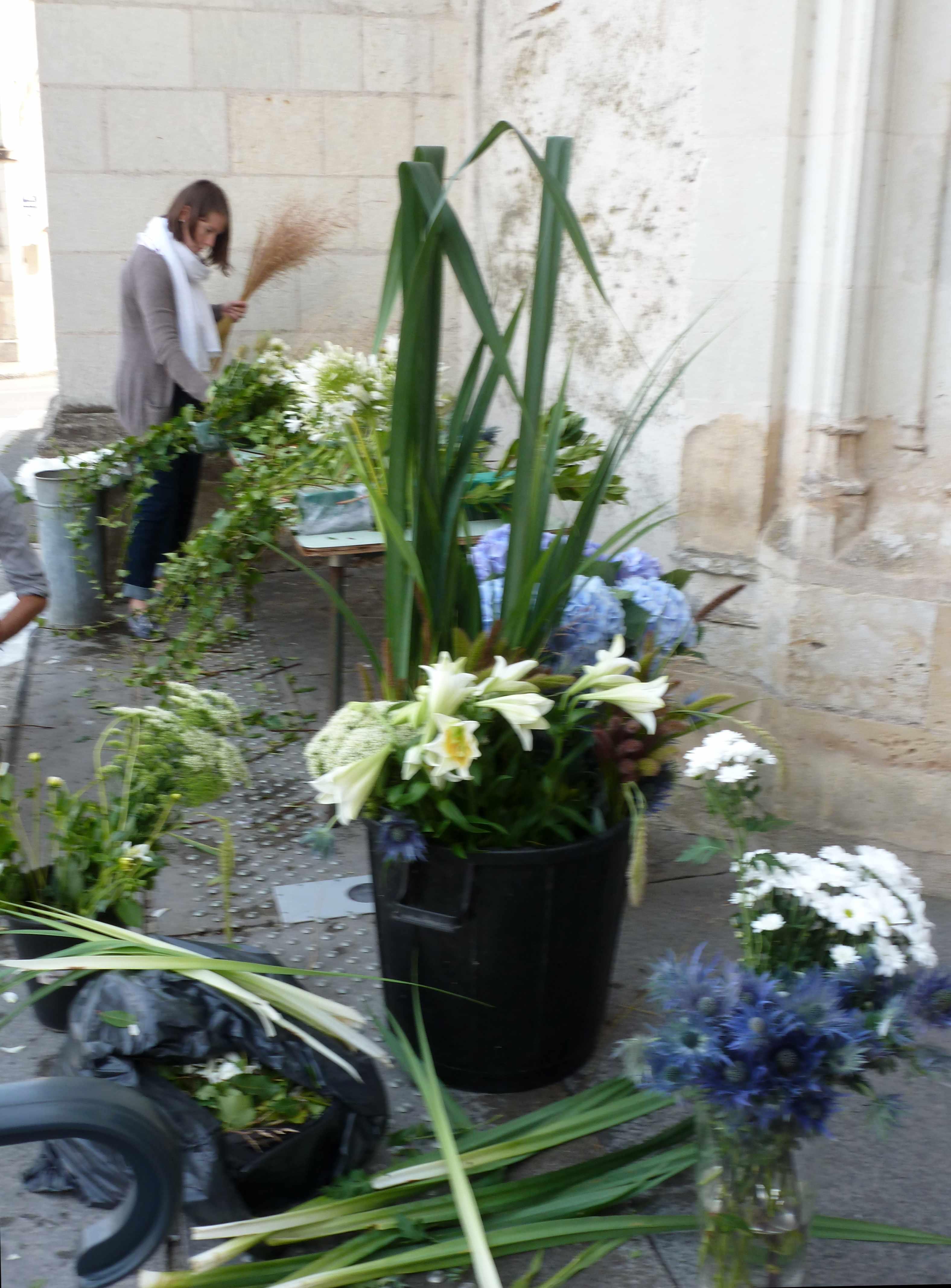 DECO mariage Marie Prep fleurs eglise