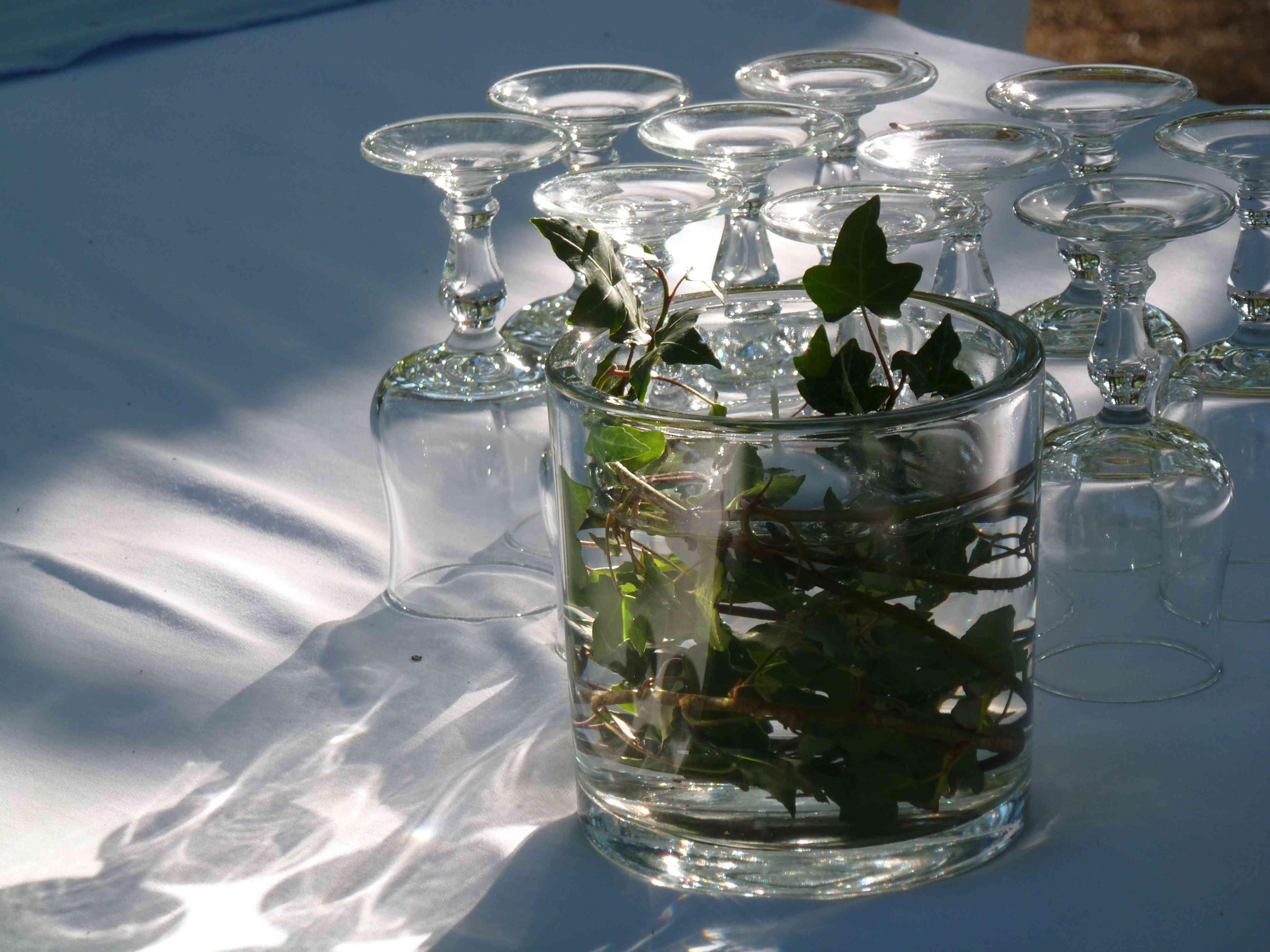 DECO vase photophore lierre mariage Marie 2015
