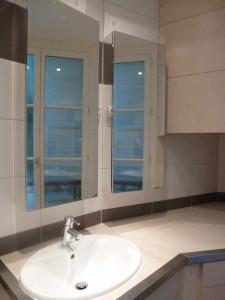 Vasque de la nouvelle salle de bain