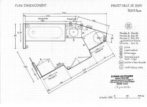Plan d'agencement de la nouvelle SDB