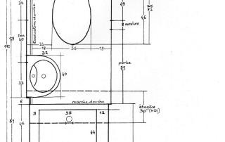 Plan initial de la micro salle d'eau
