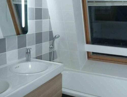 Salle de bain dans un appartement en colocation à Lille