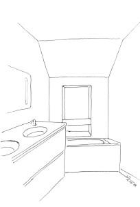 dessin projet - vasque et baignoire Lille 2013