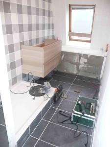Travaux douche et double vasque Lille 2013