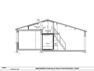 Plan en coupe SDE et mezzanine - V. d'Artemare Bréti 2015