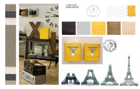 Planche-ambiance-conseil-deco Paris-poste