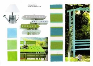 Planche ambiance jardin acidule