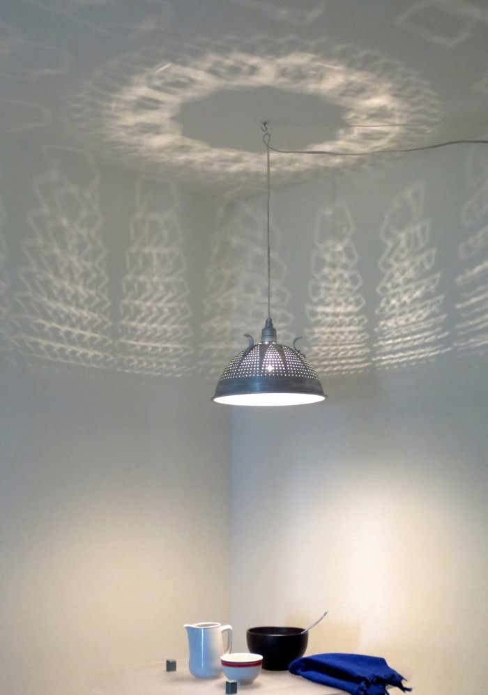 8 Kitchen Utensils as Light Fixtures-passoire-Remodelista