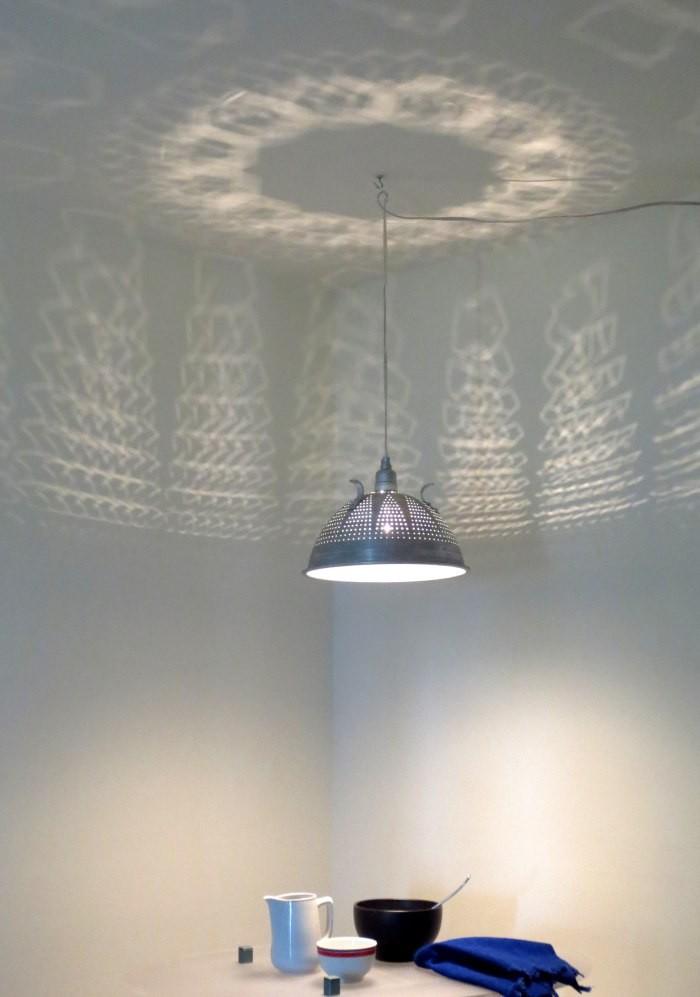 8 Kitchen Utensils as Light Fixtures-passoire-Remodelista
