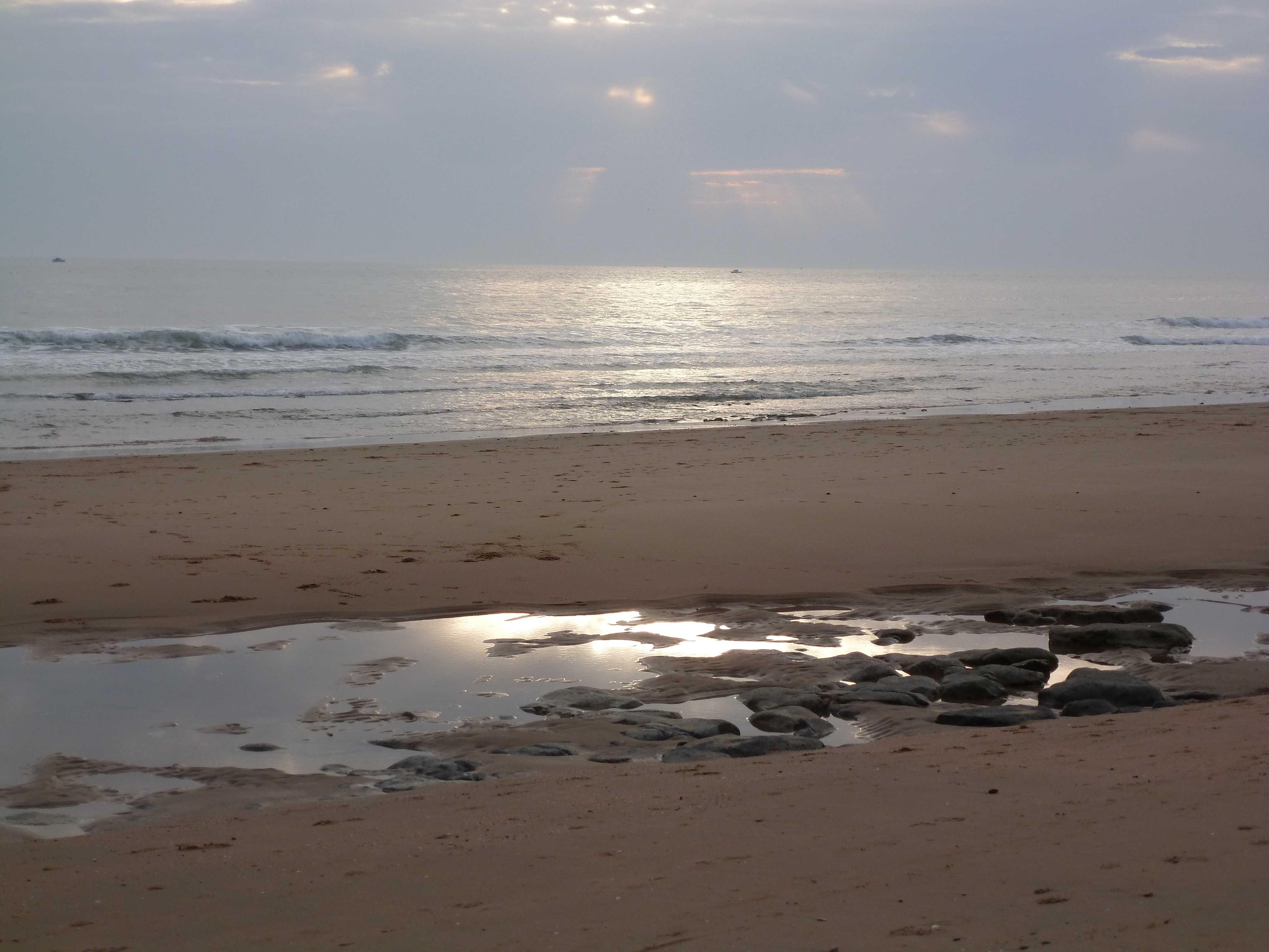 coucher de soleil plage Vendee