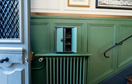 Détail boite à clés de l'entrée après rénovation