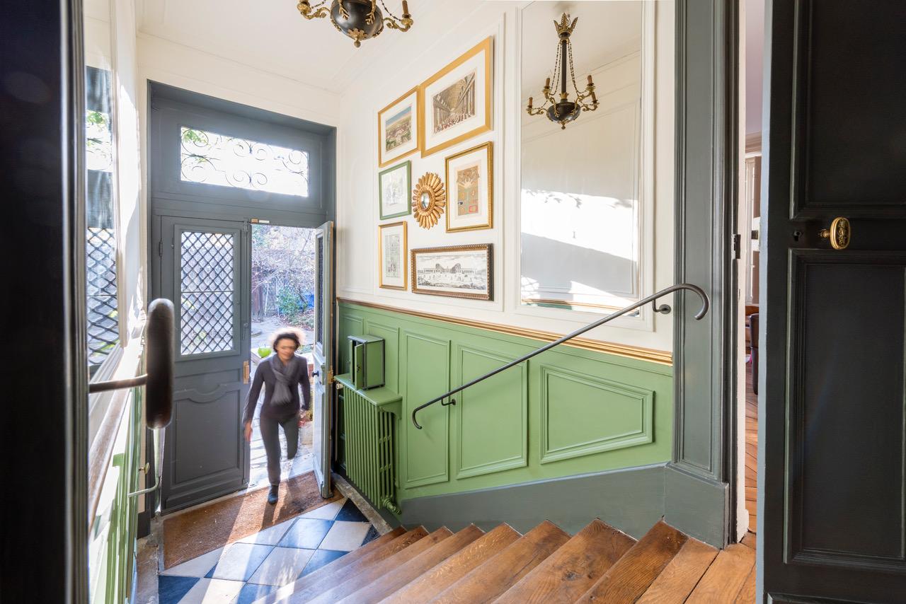 Maison 18e à Versailles - rénovation escalier d'entrée - A tous les étages - BRT_9835