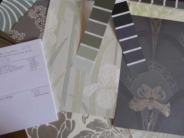 A tous les etages Projet Art nouveau essai papier peint iris