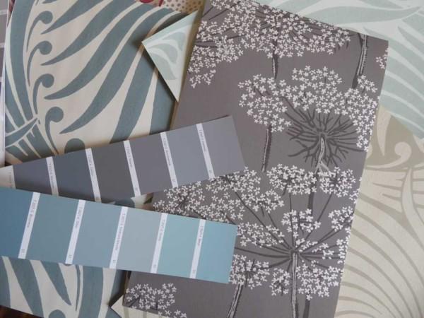 A tous les etages Projet Art nouveau essai papier peint ombelles lotus