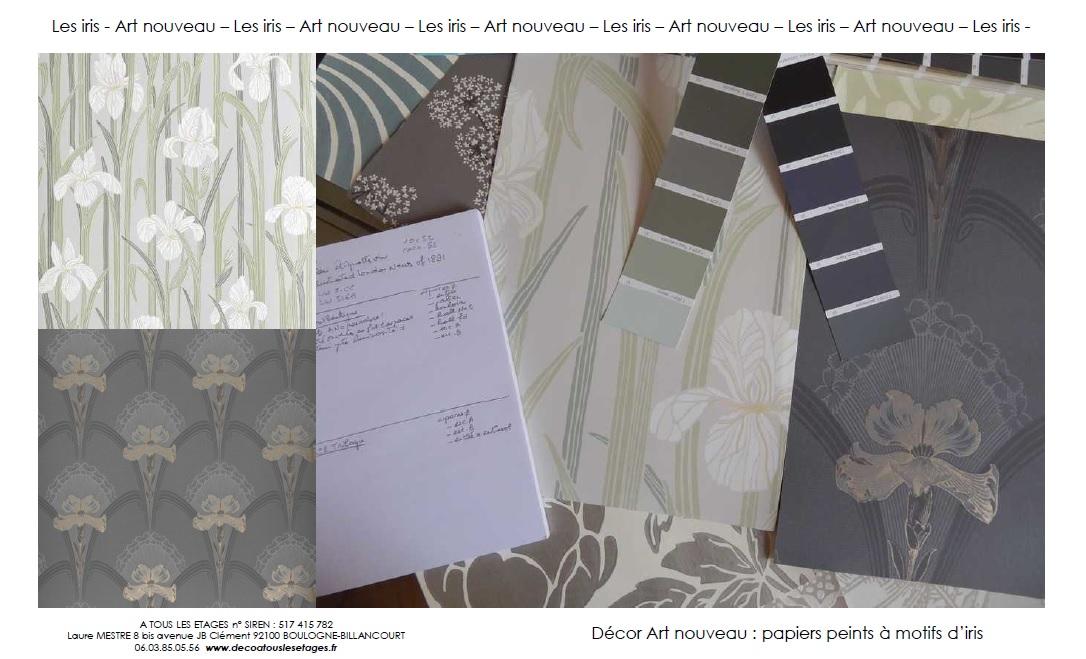 Art nouveau_Les iris_A tous les etages_decoration
