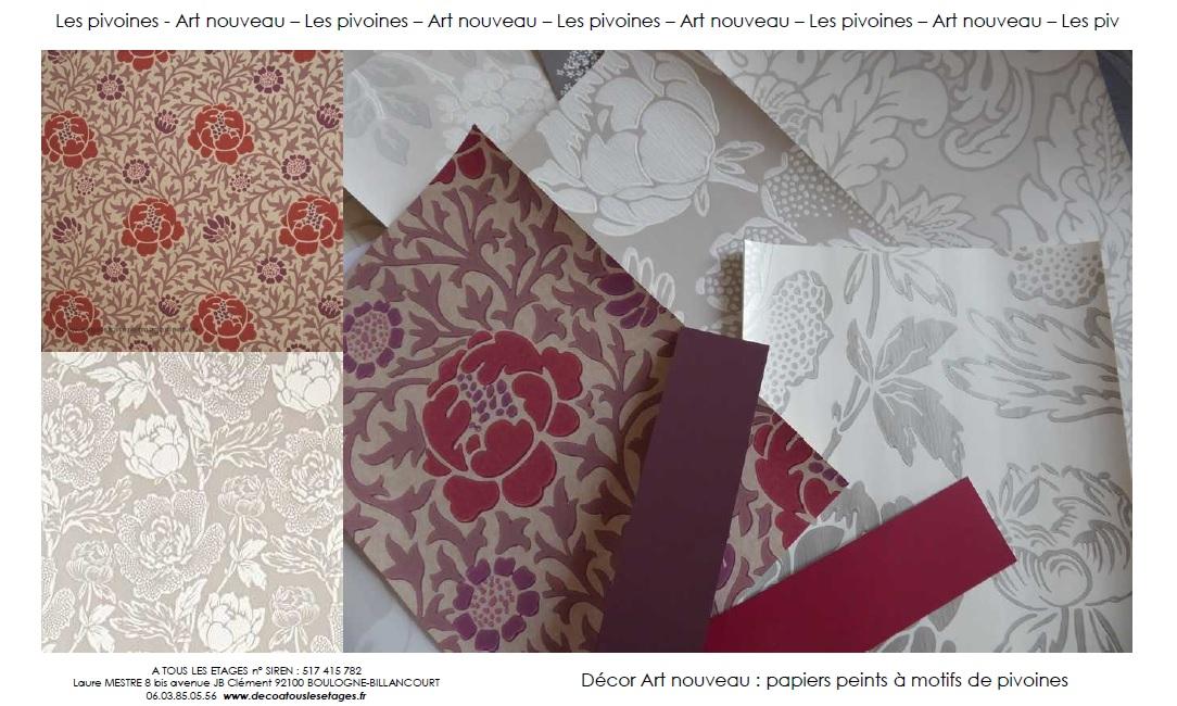Art nouveau_Les pivoines_A tous les etages_decoration