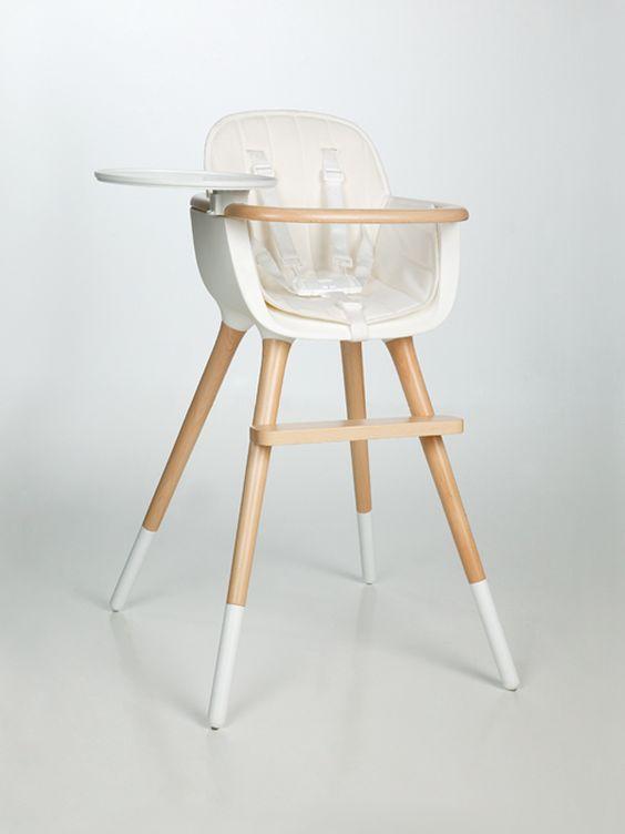 Chaise haute Ovo Micuna avec harnais