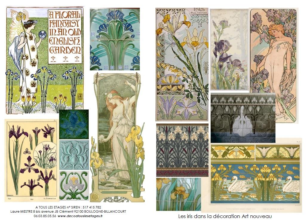 Art nouveau à tous les étages (6) : les iris