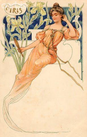 L'iris par A-Mucha