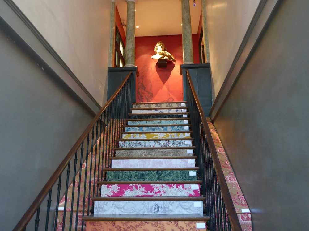 ParisDécoOff-Rive-gauche-2017-escalier-musée-Delacroix-toile-de-Jouy