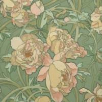 HENRI PRIVAT-LIVEMONT Quatre Planches Fleurs Décoratives Chrysanthèmes Iris Pivoines et Tulipes