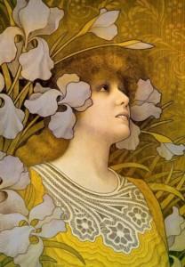 Sarah Bernhardt by Paul Berthon 1901 via Belle Epoque