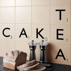 Scrabble wall tile Pinterest beautifulkitchensblog-co-uk via Nat-et-nature
