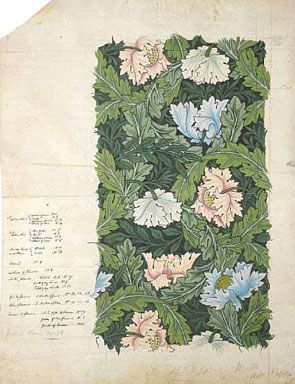dessin poppies William Morris