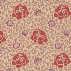 Papier peint Lansdowne Walk Little Greene coloris Plum