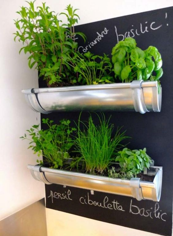 Jardin aromatique dans gouttière Pinterest Trucsetbricolages-com