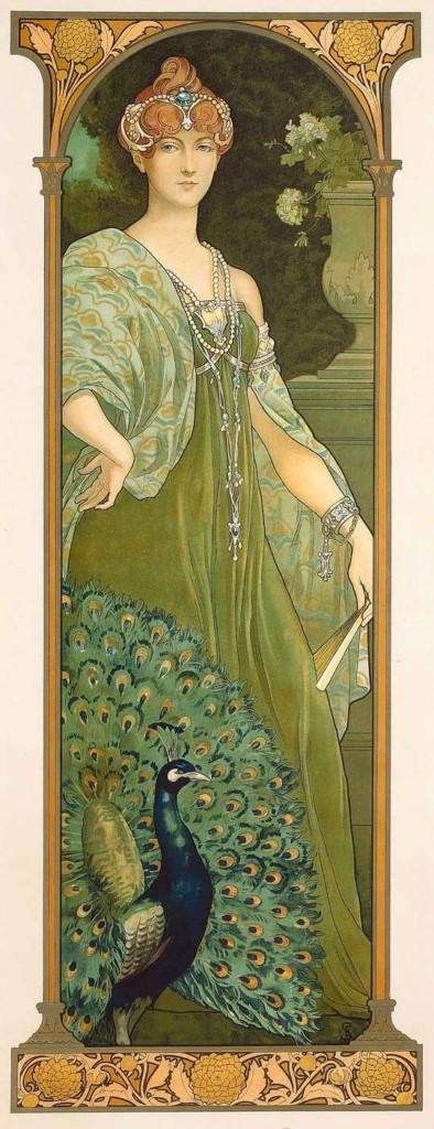 Le paon majesté Elisabeth Sonrel