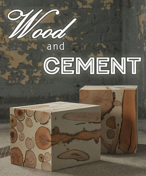 wood and cement cube