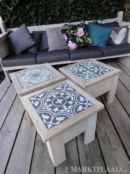3-tables-basse-carreaux-ciment-Pinterest-Marktplaats-nl