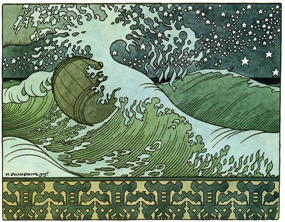 Tonneau-vague 1900 par Ivan Yakovlevitch Bilibine 1876–1942