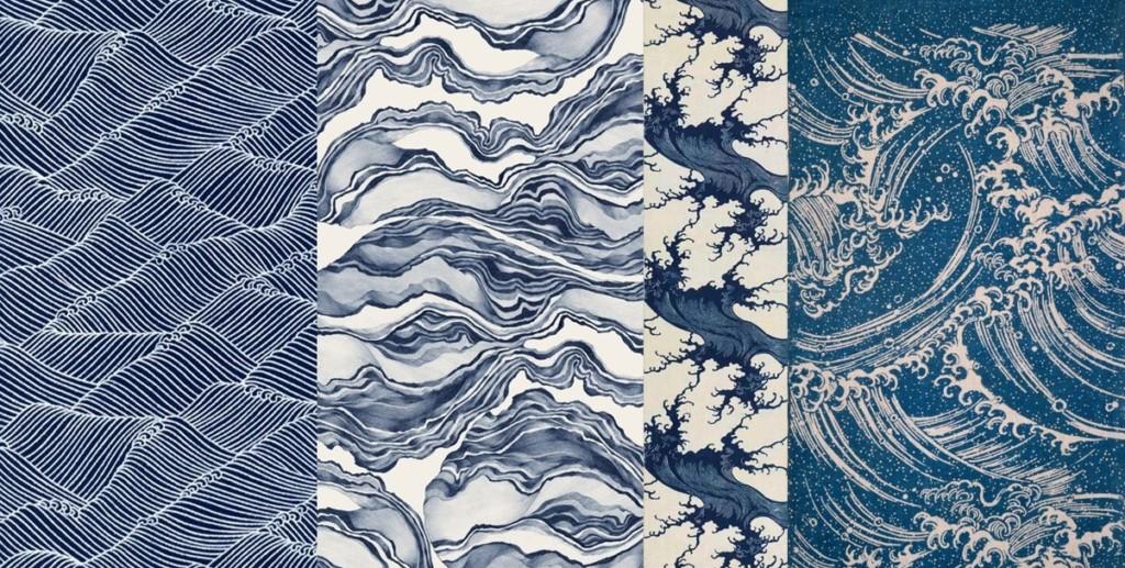 papiers-tissus-motifs-vagues-bleues-Atouslesetages-conseil-deco