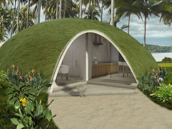 maison_ronde_enterree_A Wild Proposal for Domed Houses Made of Inflated Concrete_Pinterest