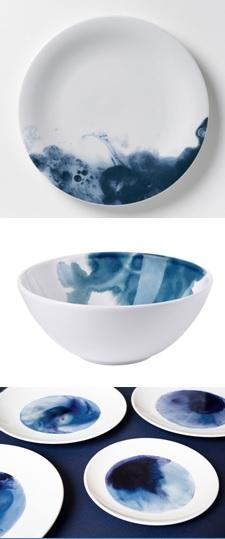 vaisselle_deco_aquarelle_encre_bleue
