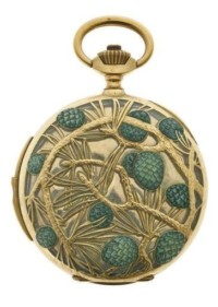 'Pine Cones' pocket watch by Rene Lalique circa 1900 Paris