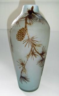 vase pommes de pin art nouveau emile galle