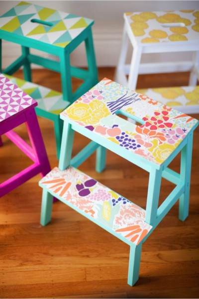 DIY-wallpaper-stools_This-little-street